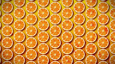 4K seamless pattern mandarin Animation