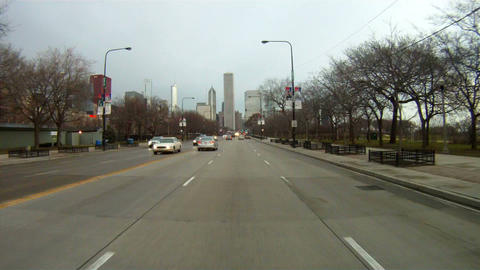 Commuter traffic Lake Shore Drive Chicago Illinois USA Footage