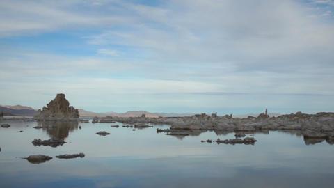 Rock Salt Tufa Formations Sunset Mono Lake California Nature Outdoors Footage