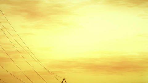 4K High Voltage Electric Poles System in the Sunset Sunrise 3D Animation 11 styl Animation