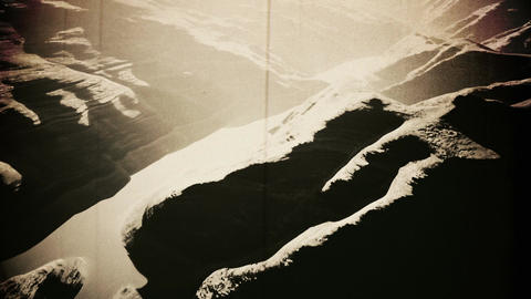Aerial Shot of a Rocky Canyon and a Lake 3D Animation Vintage 2 Animation