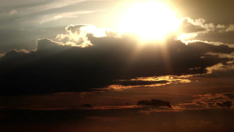 Amazing Landscape Spring Sunset On Cloudy Sky Over Lake 10 Stylized Zoom In stock footage