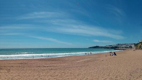 ALGARVE Albufeira Praia Pescadores E stock footage