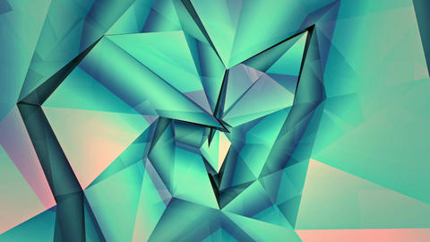 Low-Poly Background rotating twisted shape Animation