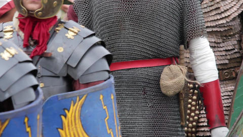 Roman warriors and Barbarians 01d Footage