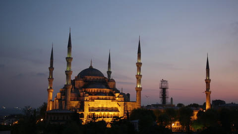 Sultan Ahmed Mosque (Blue Mosque) Footage