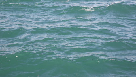 Sea Water With Small Waves stock footage