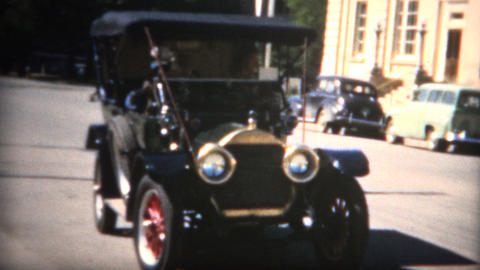 (8mm Film) 1910 Buick From 50s Car Show Live Action