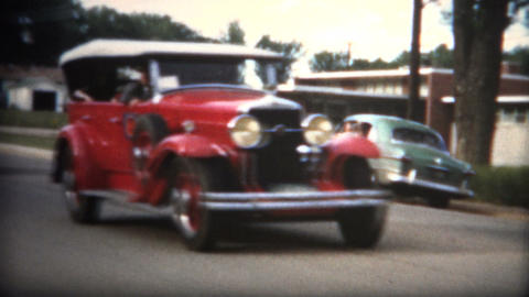 (8mm Film) 1951 Small Town Car Show Footage