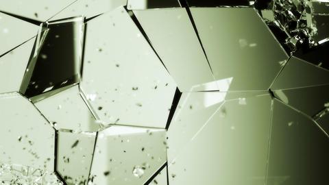 4K Glass Demolished And Broken Slow Motion . Alpha Matte stock footage