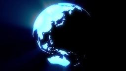 Digital Hologram Earth Animation