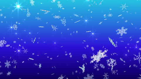Snow Flake falling Cb 4k Animation