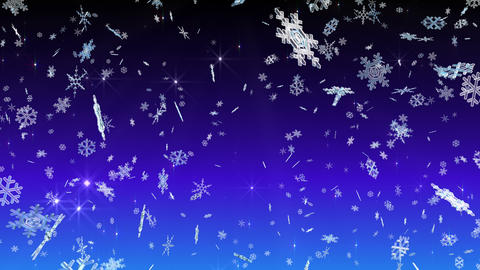 Snow Flake falling Db 4 K, Stock Animation