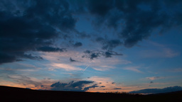 Sunset over the Fields of Moravia. Time Lapse Footage