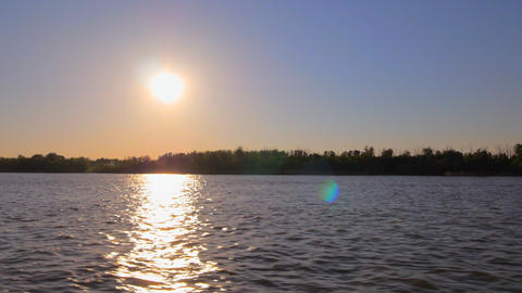 River Forest Movement Sunset stock footage