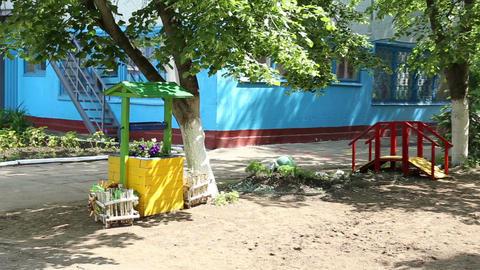 The kindergarten playgrounds for children Footage