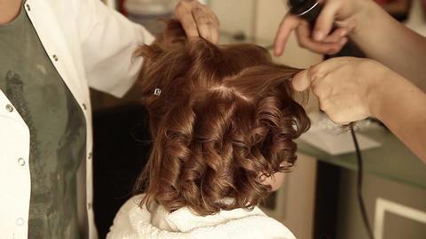 Hair Dresser stock footage