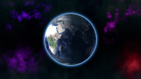 Earth zoom out Animation