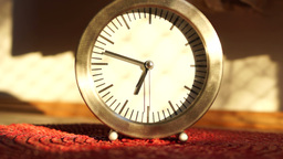 Timelapse Clock At 7, With Shadows And Sun Footage