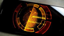 Smartphone: GPS And Digital Fingerprint stock footage
