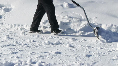 Man Shoveling Snow Live Action