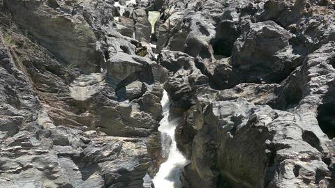 Stream Waterfall Between Stones Footage