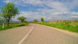 Small Road In The Fields Of Moravia stock footage