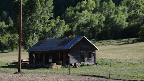 Old Ranch House stock footage