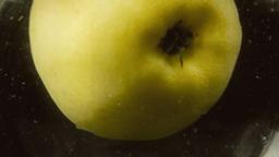 Apple splash falling in water Footage