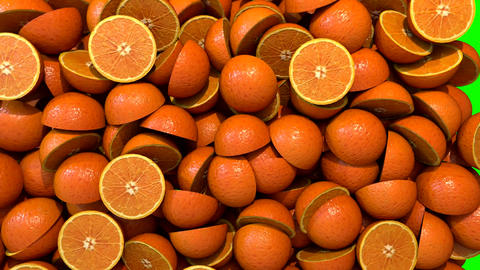 Oranges segments slices fill screen transition composite overlay element Animation