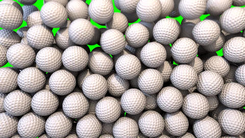 Golf balls fill screen transition composite overlay Animation