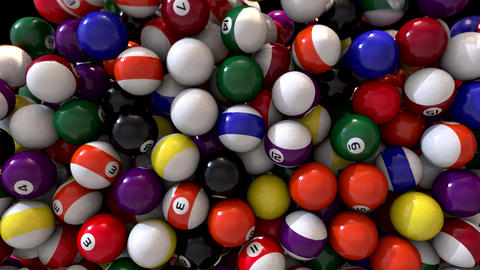 Pool billiards balls fill screen transition composite overlay Animation