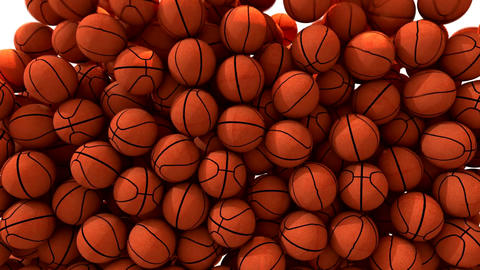 Basketballs fill screen transition composite overlay Animation