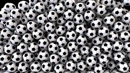 Footballs Soccer Fill Screen Transition stock footage