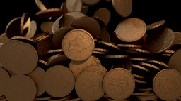 Coins copper fill screen transition money cash pile Animation
