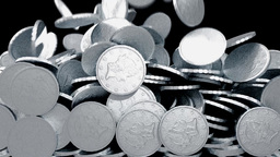 Coins silver fill screen transition money cash pile Animation