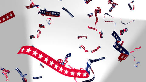 Ticker Tape Stars And Stripes US USA America Presidential Election Patriotic stock footage