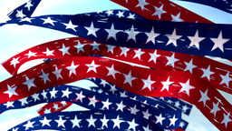 Stars and stripes banners election USA US America patriotic CG動画