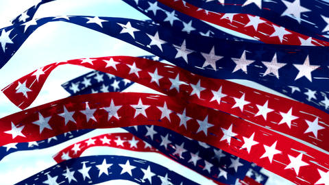 Stars and stripes banners election USA US America patriotic Stock Video Footage