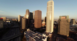 Wide View Of Scenery Around Downtown Los Angeles stock footage