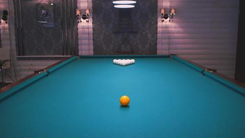 Snooker Billiards Pool stock footage