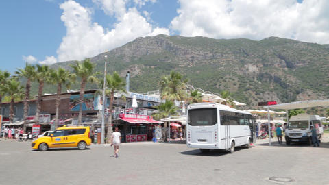 Oludeniz Beach Bus Station stock footage