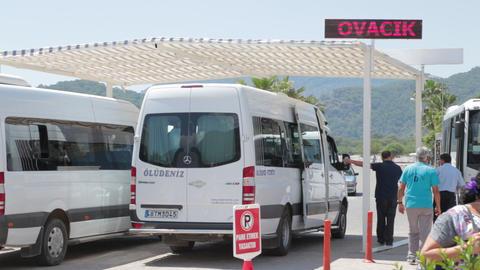 Oludeniz Beach Bus Station stock footage