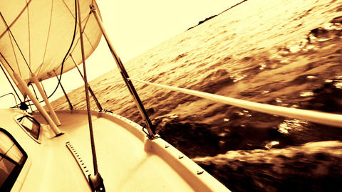 Sailing boat Footage