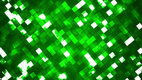 Broadcast Twinkling Fire Light Diamonds, Green, Abstract, Loopable, HD Animation