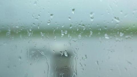 Wet Window stock footage