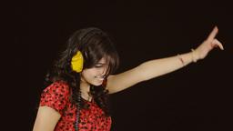 Music woman headphones black trippy Footage
