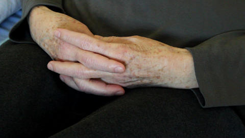 Hands Of The Old Woman stock footage