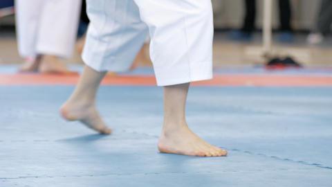 Karate Kids 3 stock footage