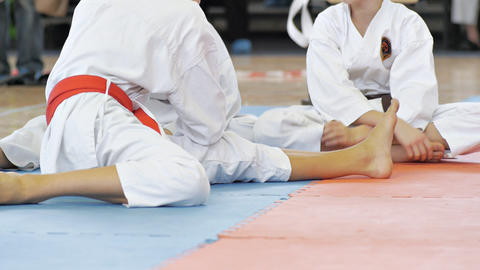 Karate Kids 5 stock footage